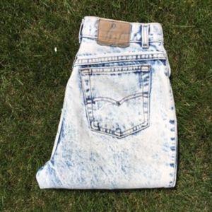 Levis 501 Vintage Acid Wash Wedgie High Waist Jean